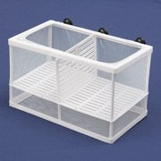 Dual Two Spaces Net Breeder Aquarium Fish Shrimp Tank Fry Breeding Hatchery Partition Case Kit