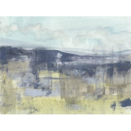 Blueberry Hills II Transitional Abstract Landscape Art Print Wall Art By Jennifer Goldberger (Goldberger Abstract Print)