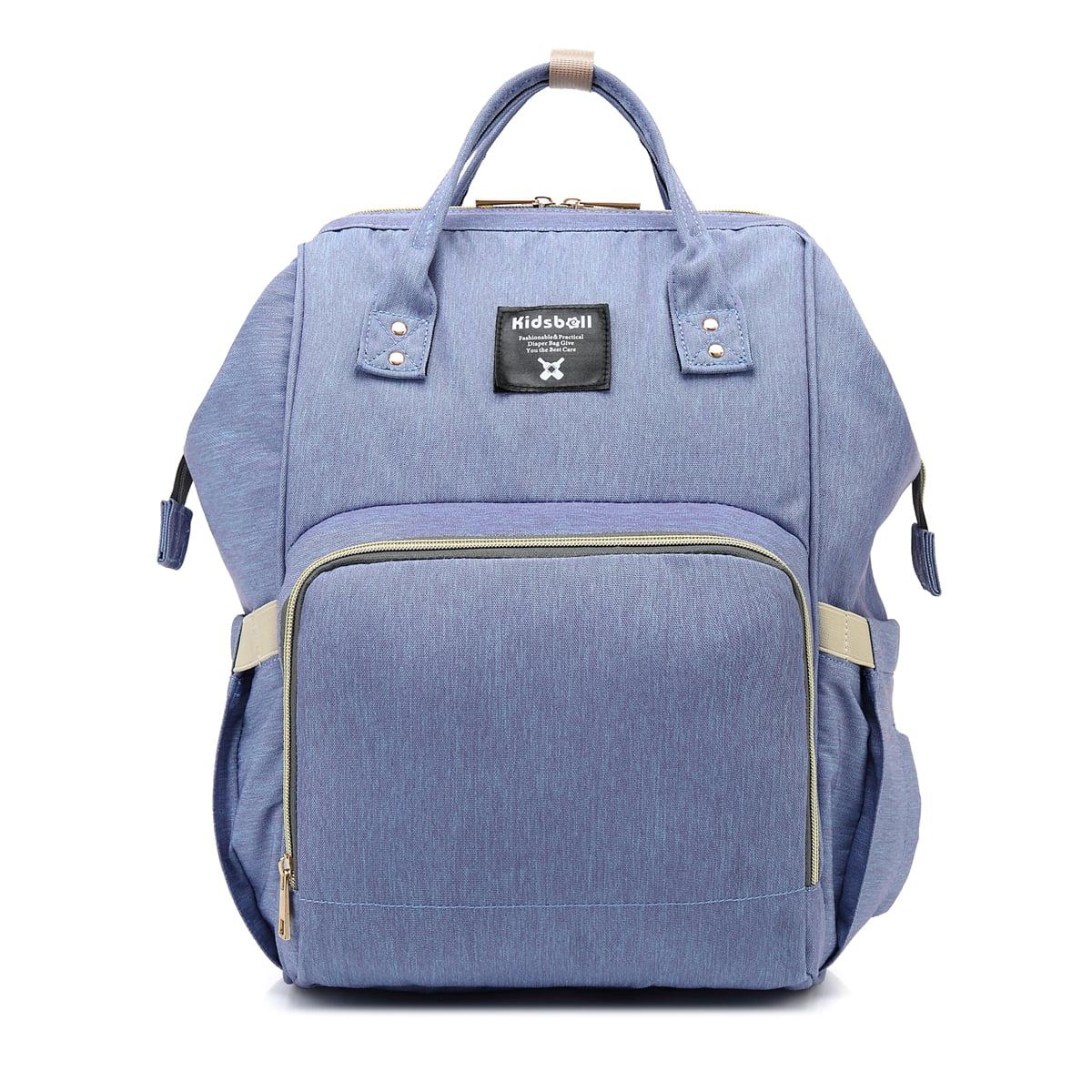LUXUR High Capacity Diaper Bag Multi-Function Travel Backpack Nappy Bag Feeding Bottle Mother Shoulder Maternity Mummy Handbag