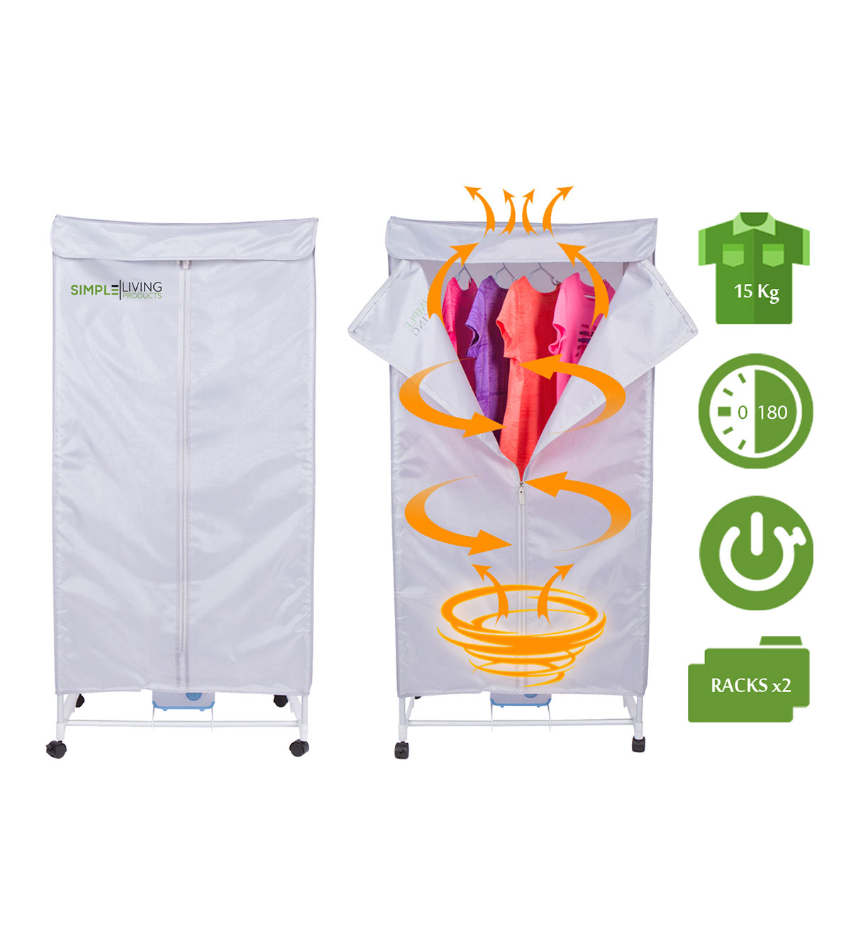 15KG Compact Electric Portable Clothing Dryer   Portable Clothes Dryer Rack  Dries Clothing In 30 Minutes