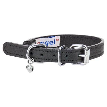 Angel Pet Supplies 21890 Alpine Plain Cat Collar in Midnight Black