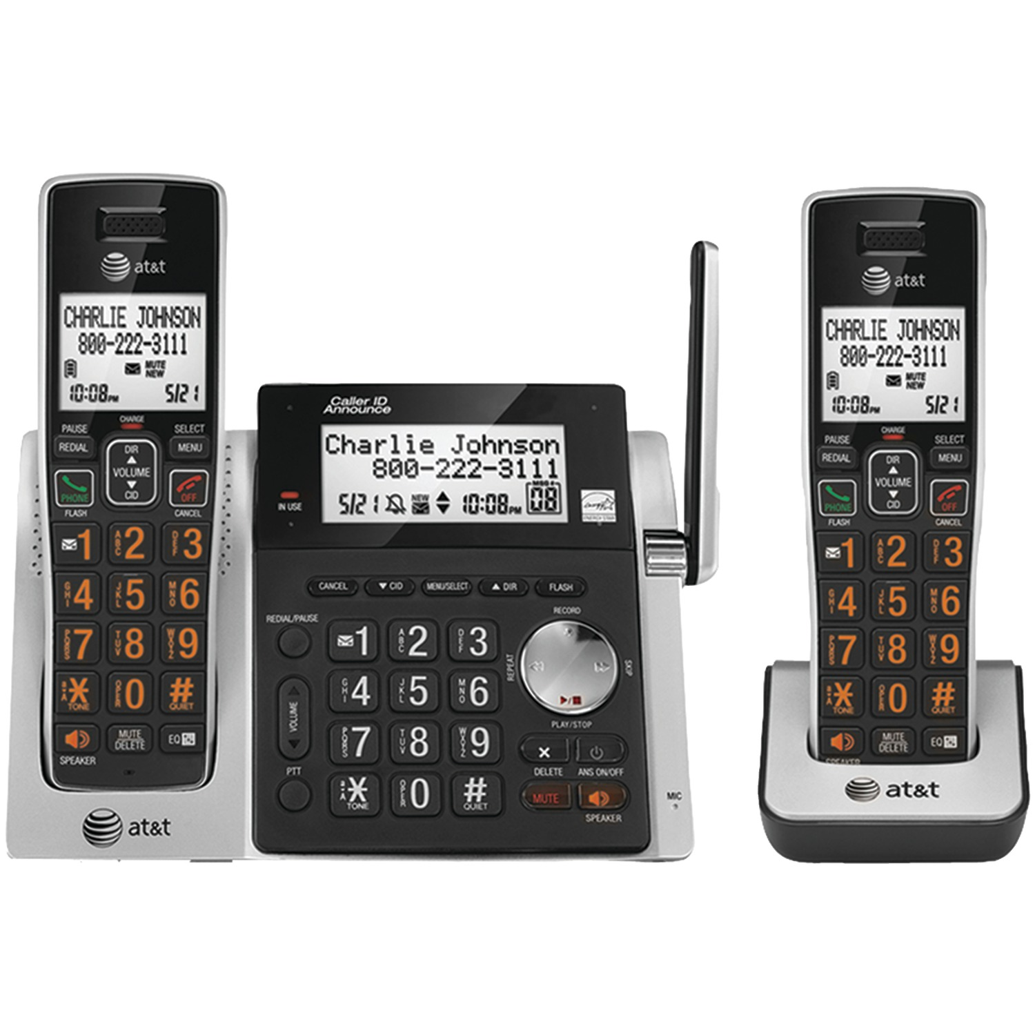 AT ATTCL83213 Cordless Answering System With Dual Caller ID/Call Waiting (2-Handset System)