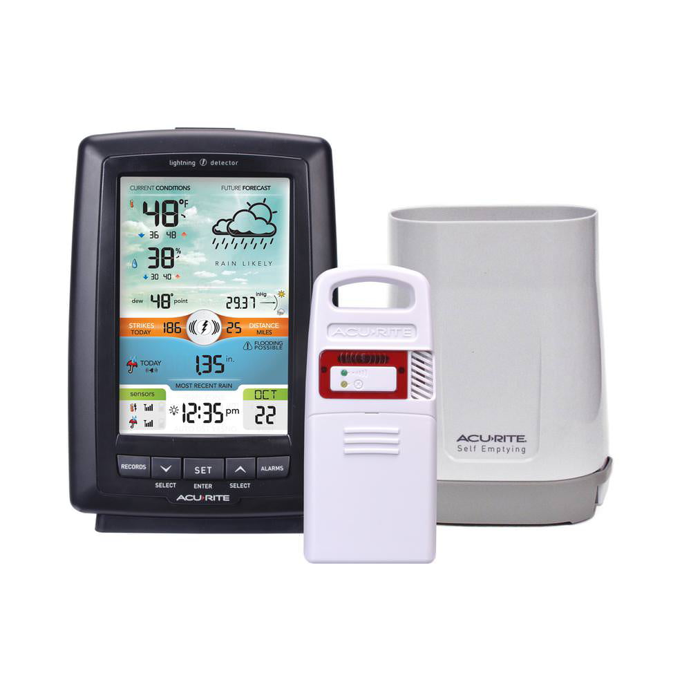 Weather Station with Rain Gauge and Lightning Detector by Chaney Instrument Co