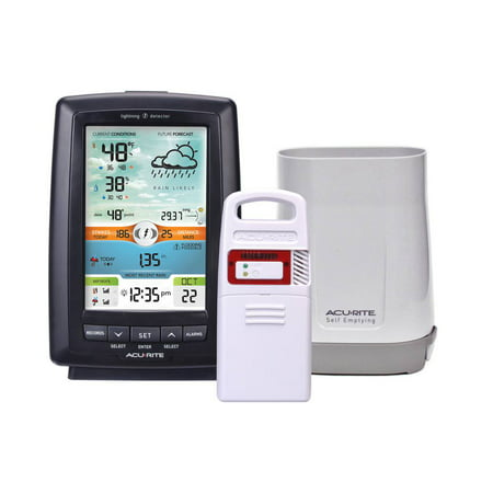 Electronic Rain Gauge - Weather Station with Rain Gauge and Lightning Detector