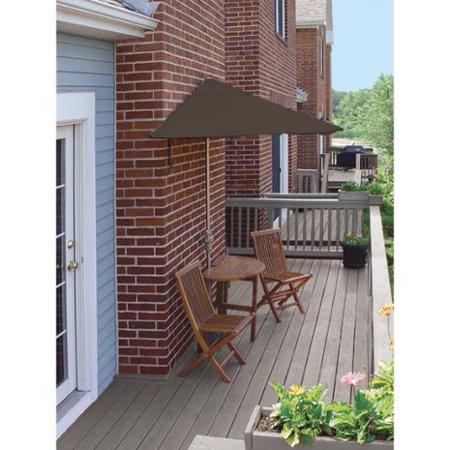 5-Pc Terrace Mates Standard Outdoor Patio Furniture Set 9' - Chocolate Sunbrella