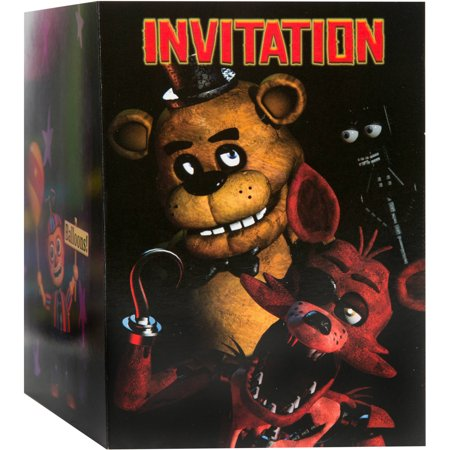 Paint Party Invitations (Five Nights at Freddy's Invitations,)