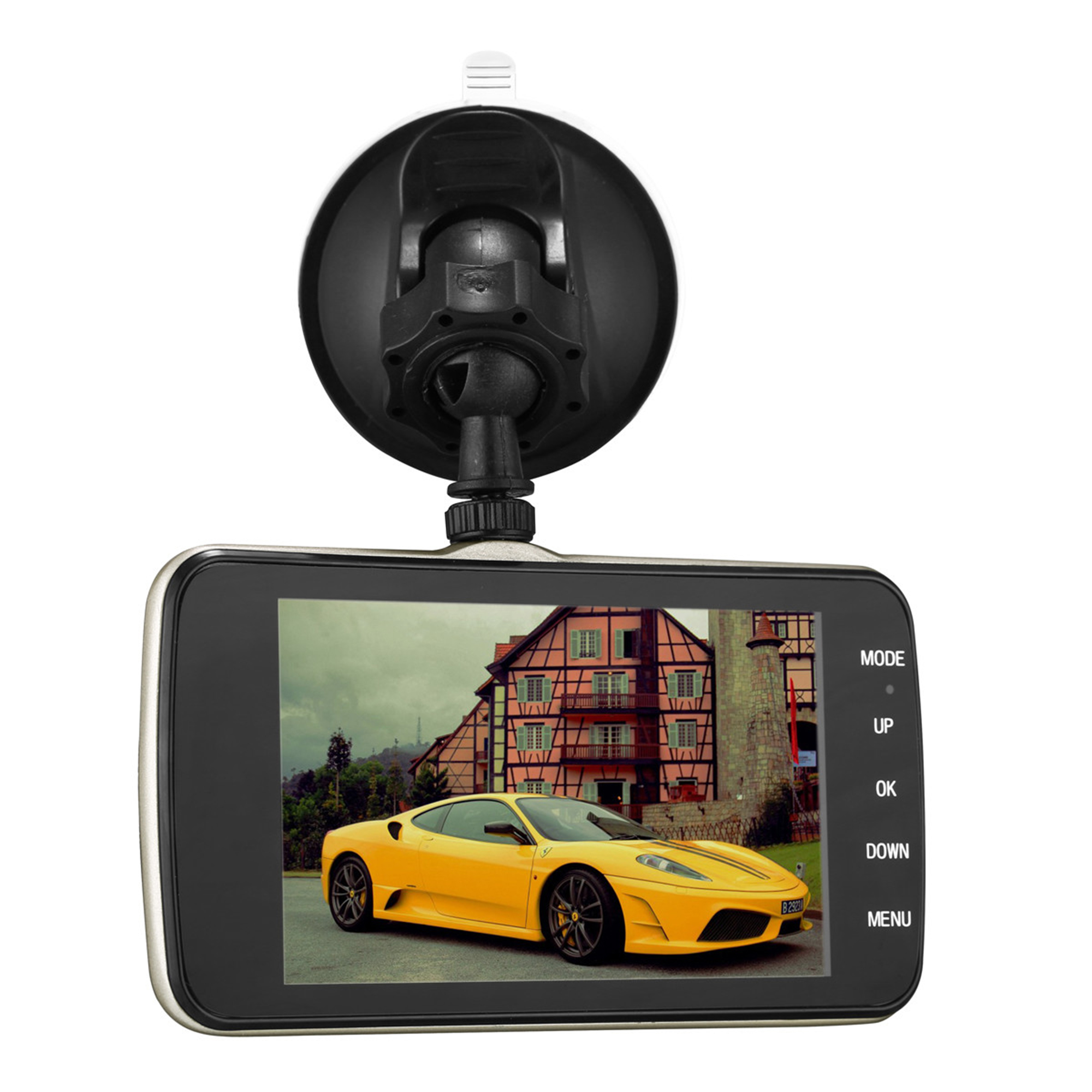"4.0"" HD 1080P Dual Lens Car DVR Recorder Dash Cam Video Recorder Rearview Parking Camera G-sensor"