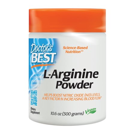 Doctor's Best L-Arginine Powder, Non-GMO, Vegan, Gluten Free, Soy Free, Helps Promote Muscle Growth, 300