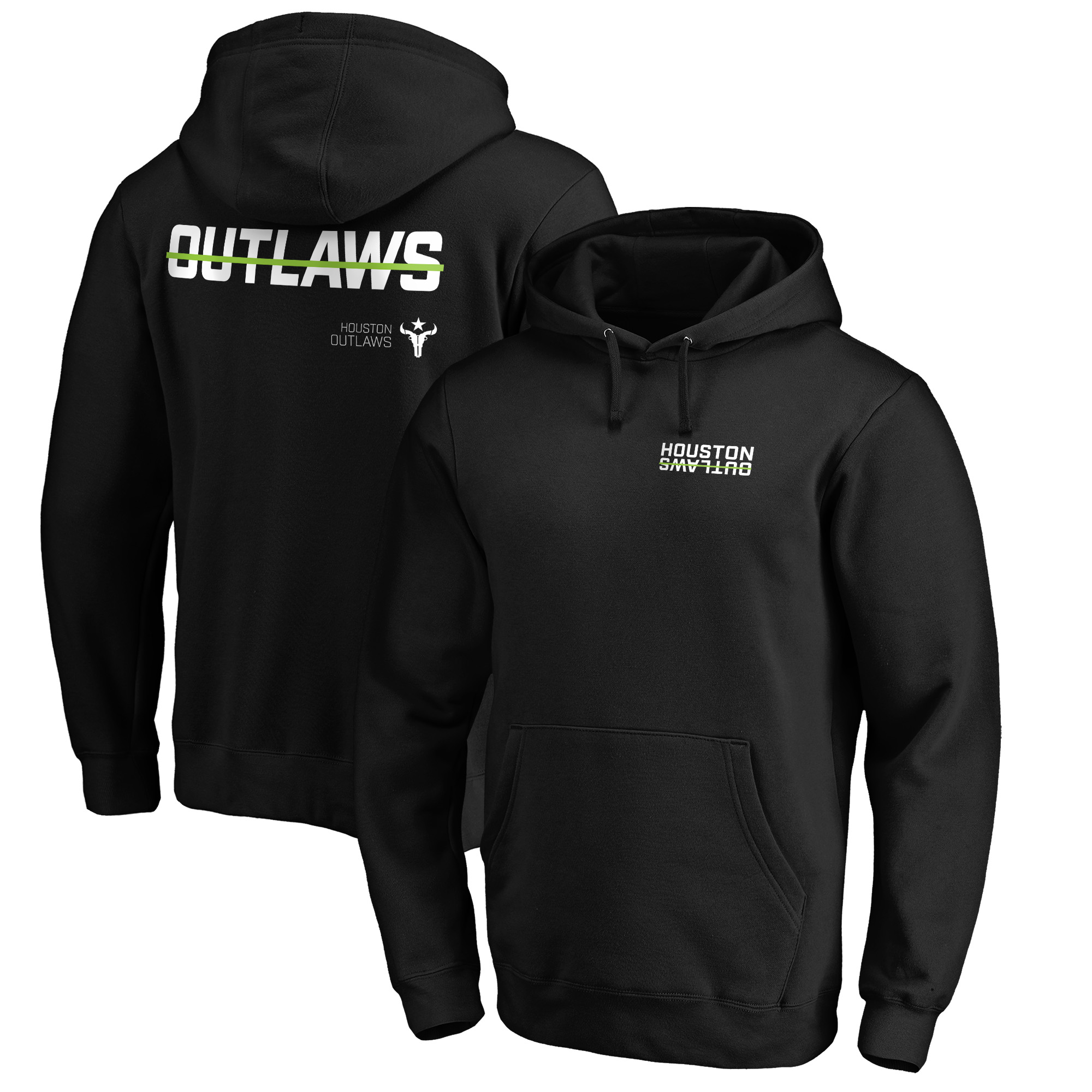 Houston Outlaws Fanatics Branded Shout Out Pullover Hoodie - Black