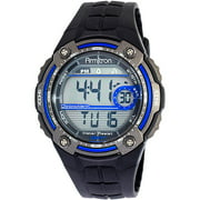 Men's Blue and Gray Digital Chronograph Sport Watch