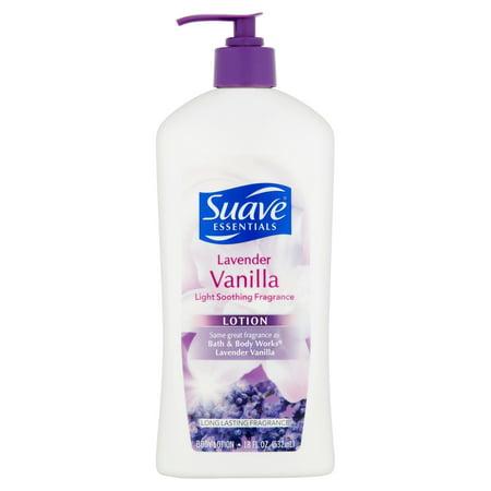 Suave Essentials Lavender Vanilla Lotion  18 Fl Oz
