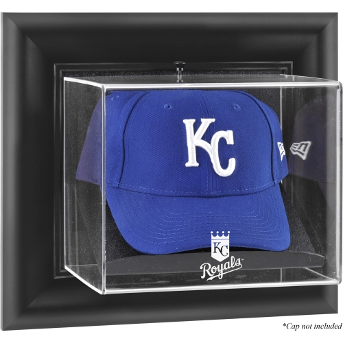 Kansas City Royals Fanatics Authentic Black Framed Wall-Mounted Logo Cap Display Case - No Size