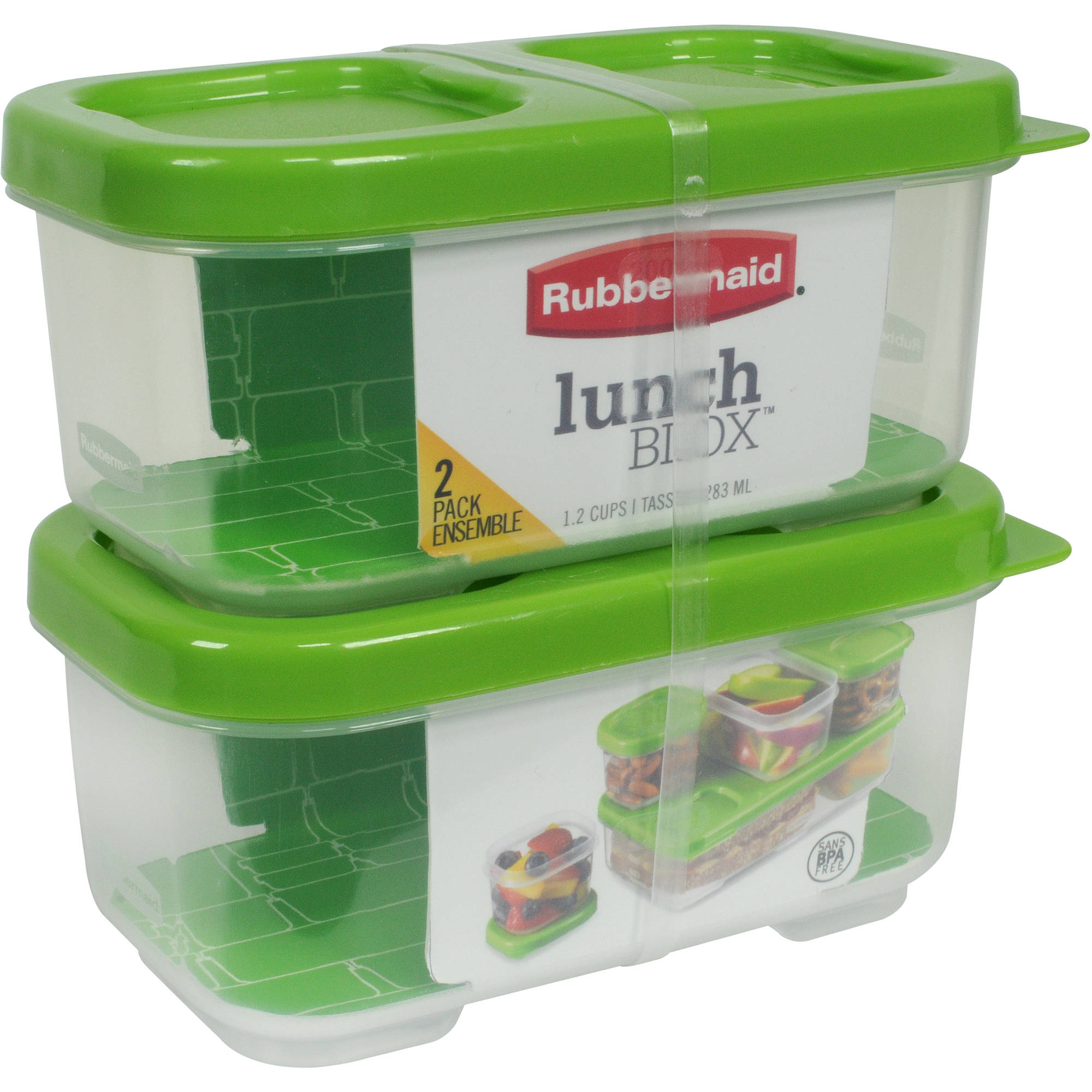Rubbermaid LunchBlox Side Dish Food Storage Containers, 12-pack