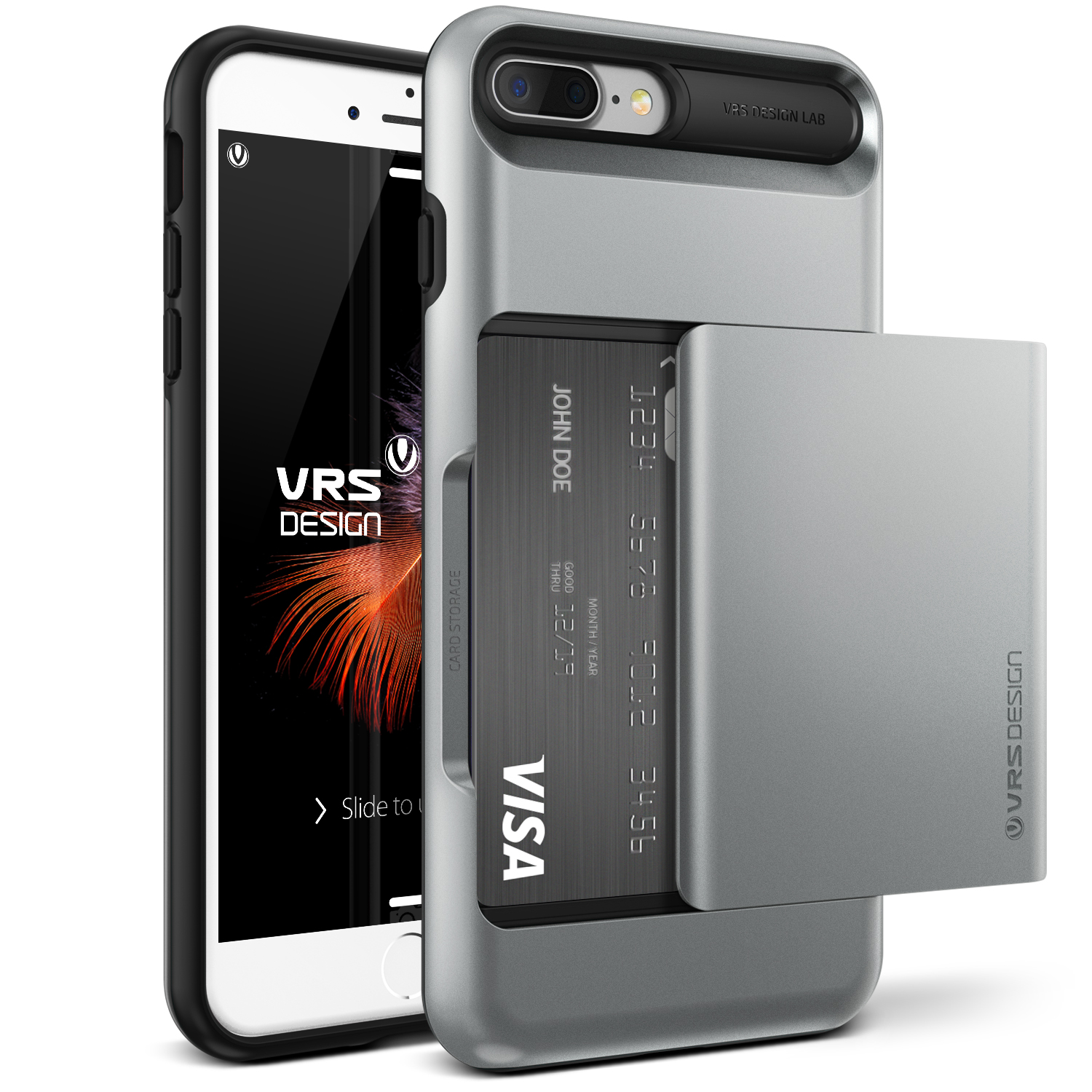iPhone 7 Plus Case Cover | Protective Wallet with Card Slots | VRS Design Damda Glide for Apple iPhone 7 Plus