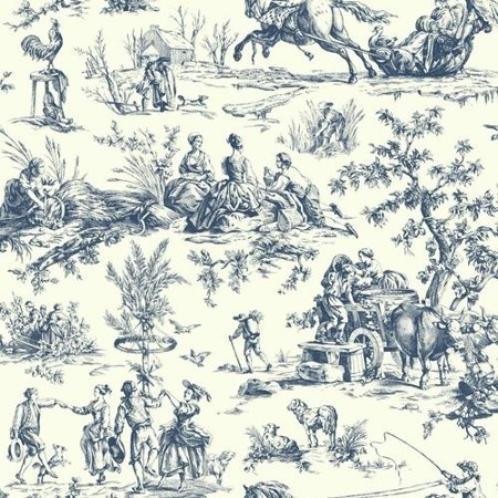 - Ashford Toiles Seasons Toile Wallpaper