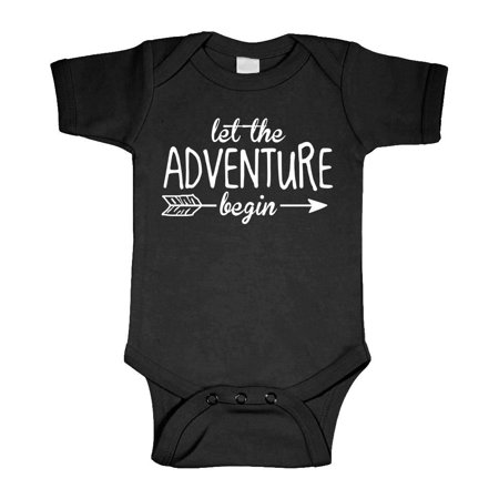 LET THE ADVENTURE BEGIN - fantasy wizard  - Cotton Infant Bodysuit