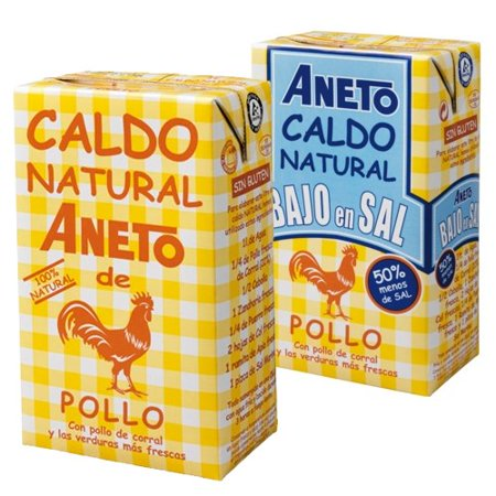 Whole Stock - Spanish Chicken Broth by Aneto - Low Sodium (34 fluid ounce)