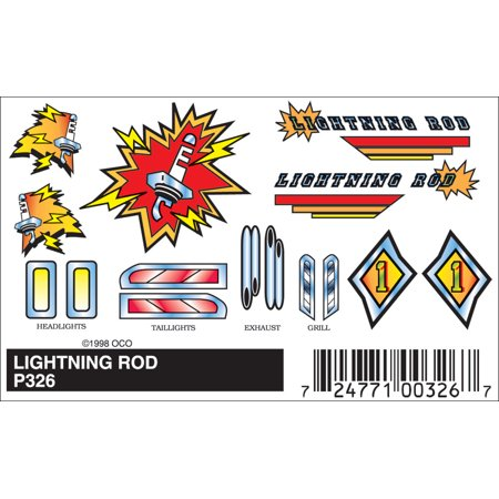 Woodland Scenics P326 PineCar Stick-on Decal Lightning Rod
