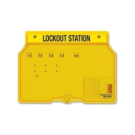 Complete Lockout Station (Master Lock Unfilled Lockout Station MLK1482B )
