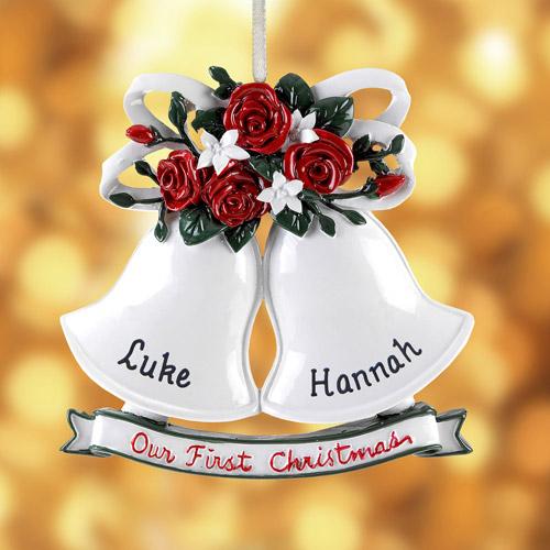 Personalized Wedding Bells Ornament
