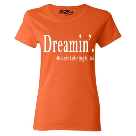 Shop4Ever Women's Dreamin'. Martin Luther King Jr., 1963 History Graphic T-Shirt
