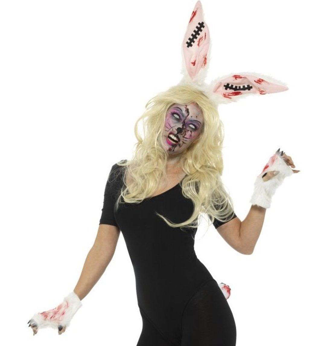 zombie bunny kit dead rabbit sinister animal adult halloween costume
