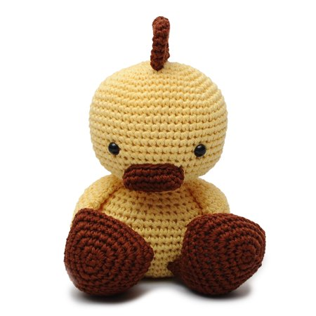 - Yellow-Brown Ducks Handmade Amigurumi Stuffed Toy Knit Crochet Doll VAC