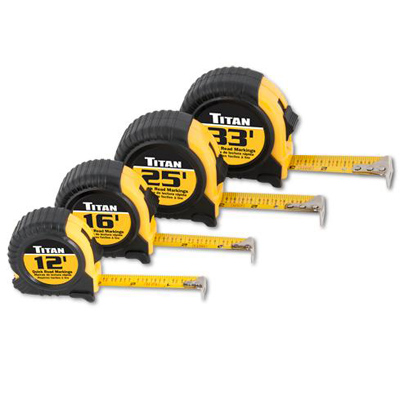 4 Piece Quick Read Tape Measures