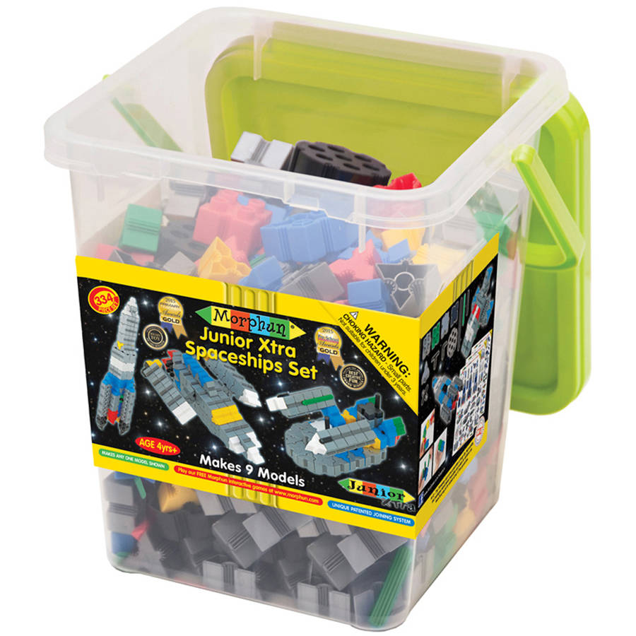 Morphun Junior Xtra Spaceships Set, 334pcs by WABA Fun