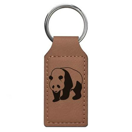 Keychain - Panda Bear (Dark Brown Rectangle)](Gummy Bear Keychain)
