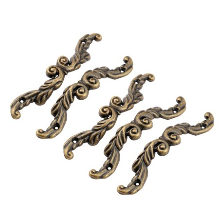 Uxcell Dresser Drawer Metal Arch Bow Shape Cabinet Door Pull Handle Bronze Tone -