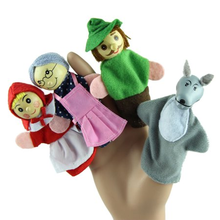 4PCS Little Red Riding Hood Finger Puppets Christmas Gifts Baby Educational Toy (Zombie Baby Puppet)