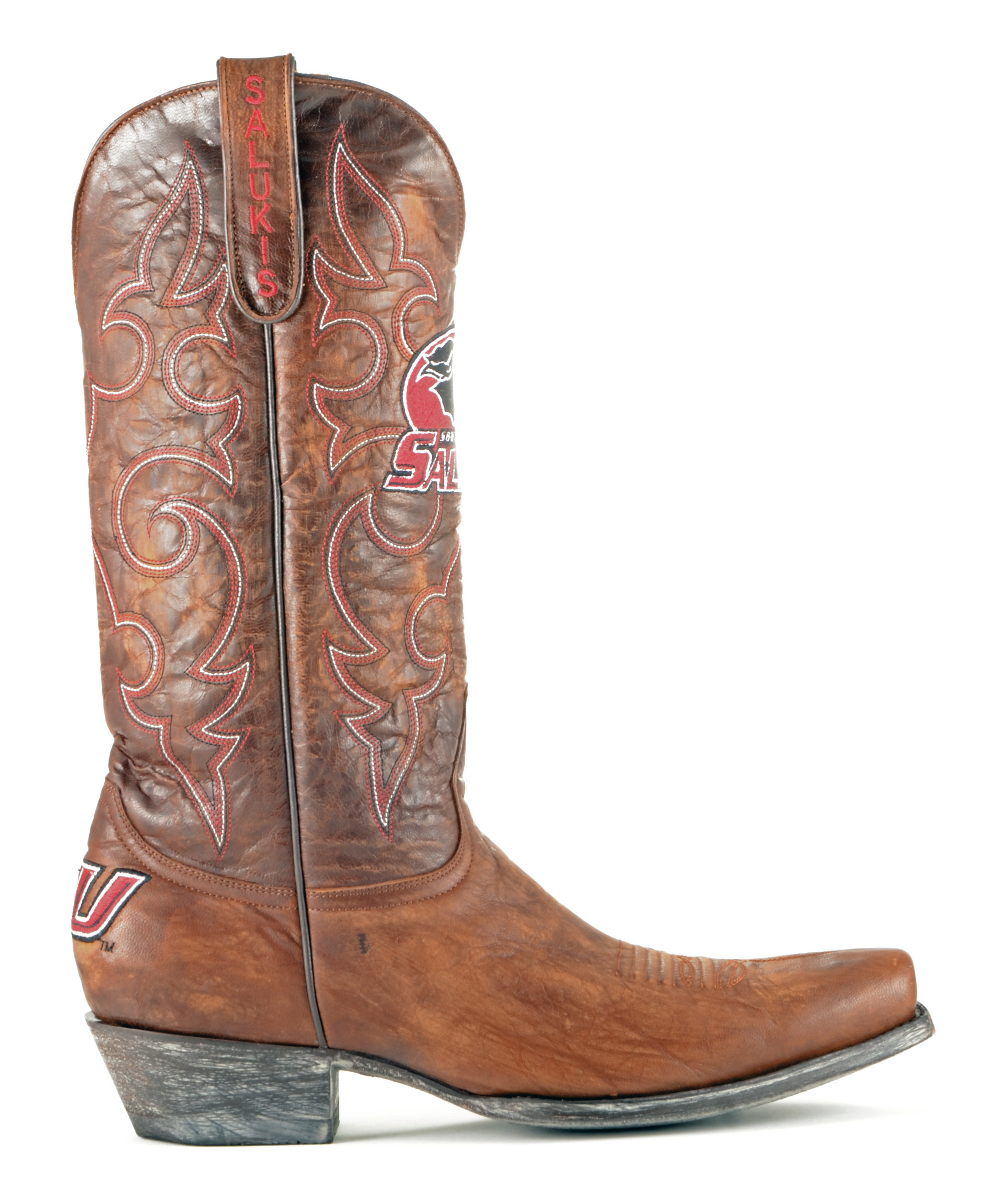 Gameday Boots Leather Southern Illinois Board Room Cowboy Boots