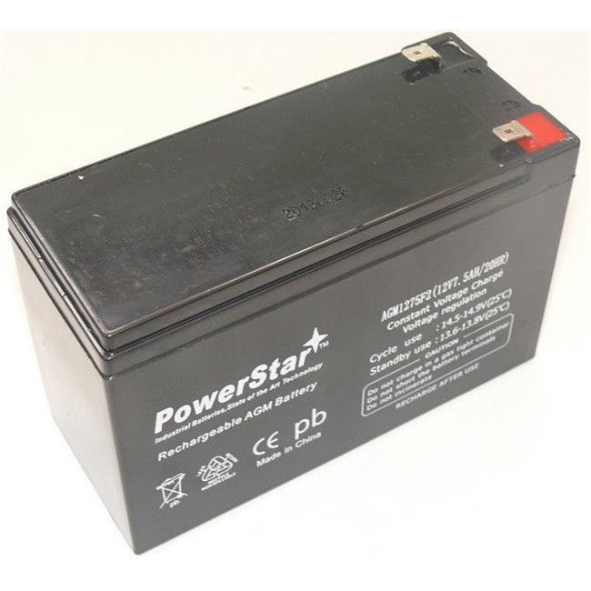 PowerStar AGM1275F2-42 12V, 7.5Ah Battery Replaces gp1272 np7-12 bp7-12 ps-1270 ub1280 cy0112