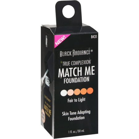 Black Radiance True Complexion Match Me Foundation, 8431 Fair to Light, 1 fl (Fair Complexions)