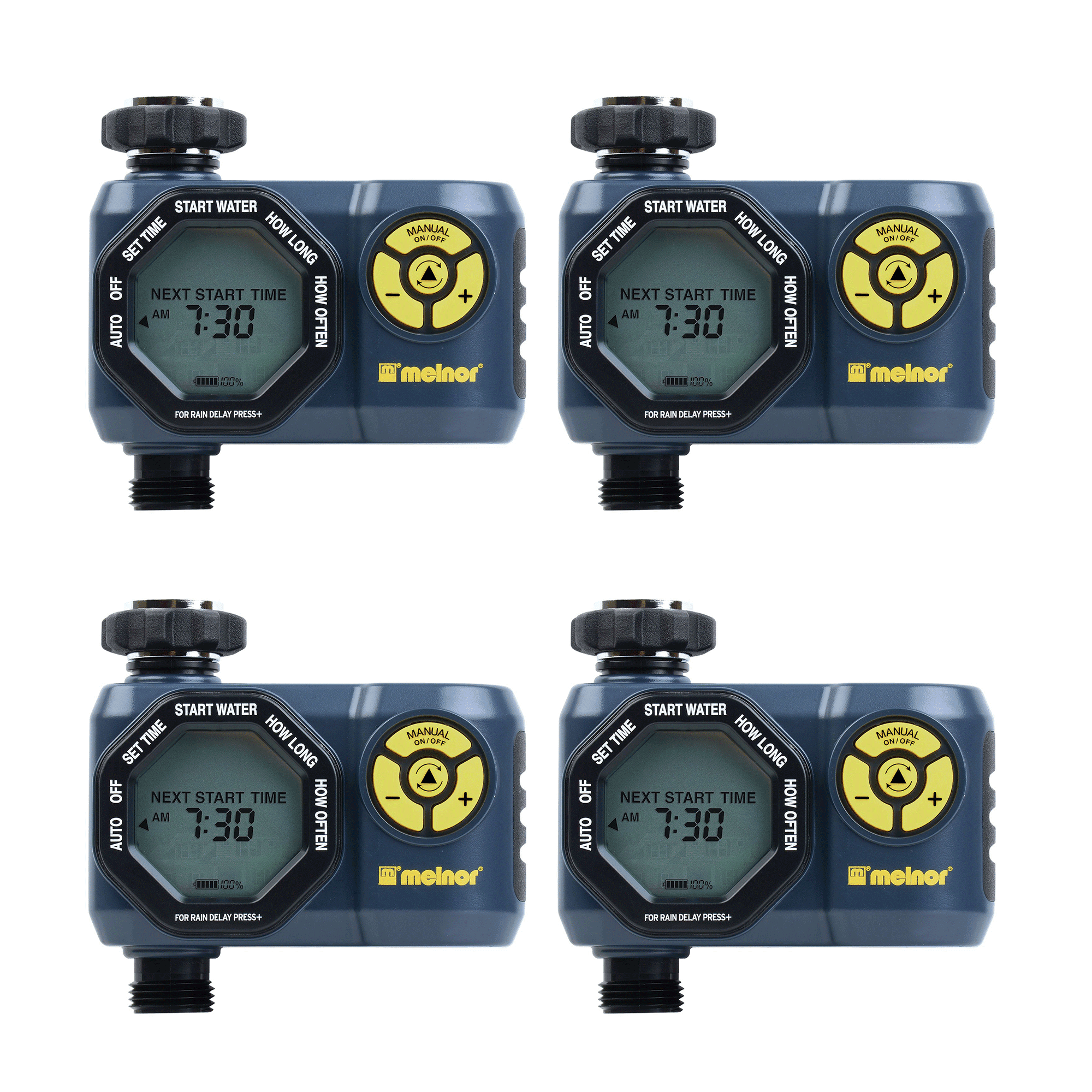 Melnor Digital 1 Zone Programmable Water Timer & Controller for Garden (4 Pack) by Melnor