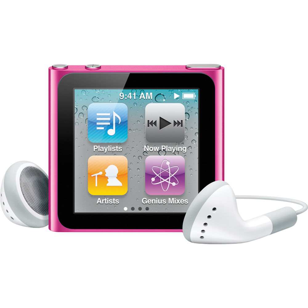 Apple iPod Nano 6th Generation 8GB Pink Like New- No Retail Packaging!