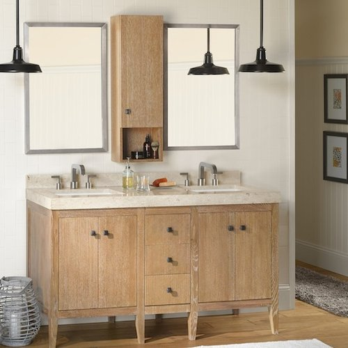 Ronbow Sophie 24'' Bathroom Vanity Cabinet Base in Vintag...