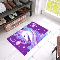 MKHERT Unicorn Doormat Rug Home Decor Floor Mat Bath Mat 23.6x15.7 inch