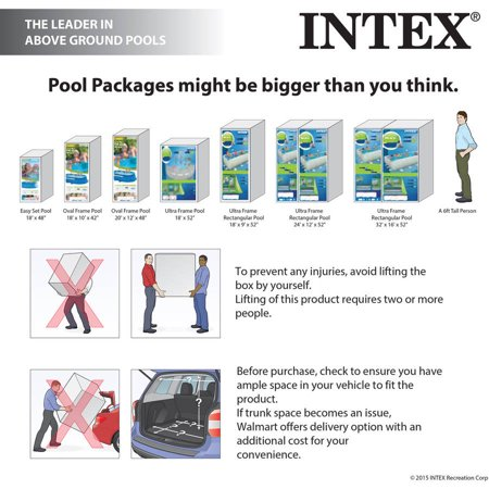 Intex 15 39 X 48 Metal Frame Above Ground Swimming Pool With Filter Pump Best Frame Swimming Pools