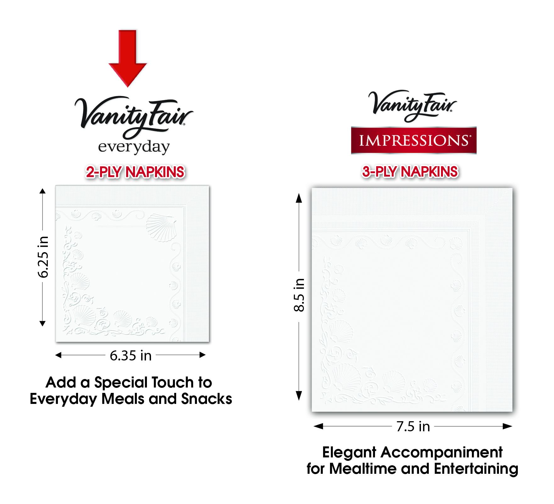 Vanity Fair Everyday Napkins, 300 count - Walmart.com
