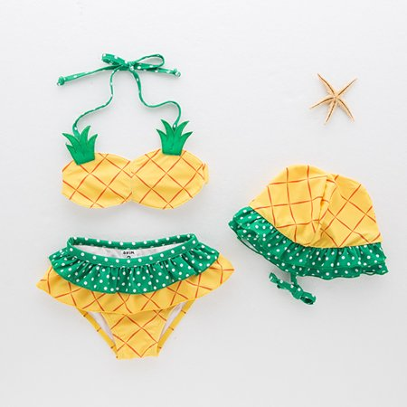 7d57cc2f9 unbrand - Girls Split Swimsuit Pineapple Swimsuit Children's Hot Spring Bathing  Suit - Walmart.com