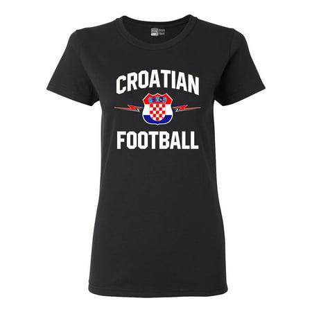 Ladies The World Croatian Football Soccer Team Sports DT T-Shirt Tee