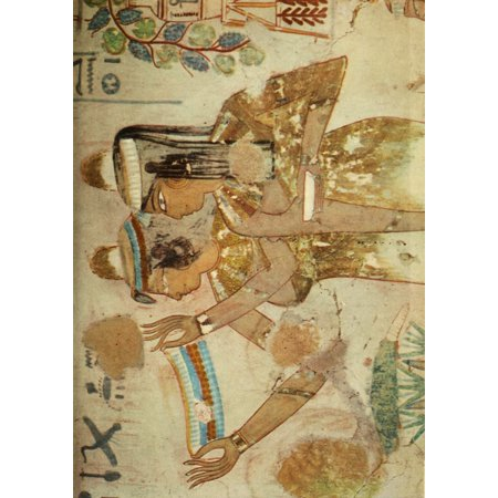 Ancient Egyptian Wall Paintings 1956 Tomb of Jeserkareseneb Canvas ...