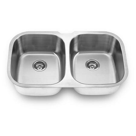 Yosemite Home Decor 34 5 X 20 Undermount Double Bowl Kitchen Sink
