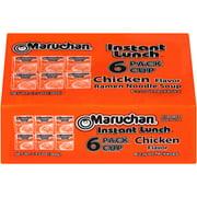 (6 Cups) Maruchan Instant Lunch Chicken Flavor Ramen Noodle Soup, 2.25 oz