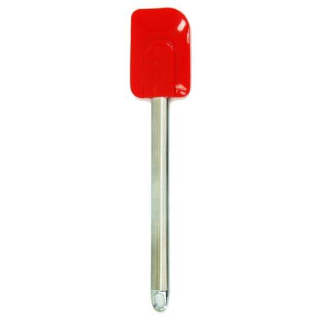 Kitchen Supply 3232 Large Red Silicone Spatula Stainless Steel Handle
