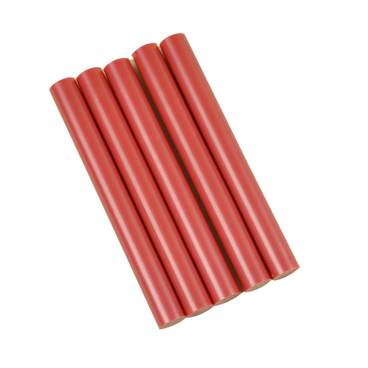 GlueSticksDirect Red Metallic Colored Glue Sticks 7/16 X 4 5 Sticks