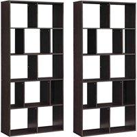 Mainstays Home 12-Shelf Bookcase, Set of 2