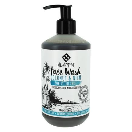 Face Wash with Coconut & Neem for Normal to Dry Skin Purely Coconut Scent - 12 fl. oz. by Alaffia (pack of 1)